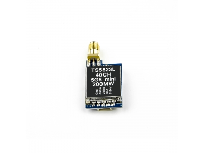 TS5823L ultra-mini 5.8GHz 200mW 40 channel FPV wireless AV transmitter