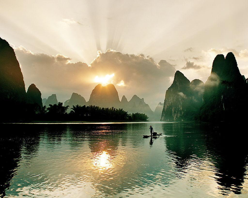 The scenery of Guilin has been called the finest under heaven