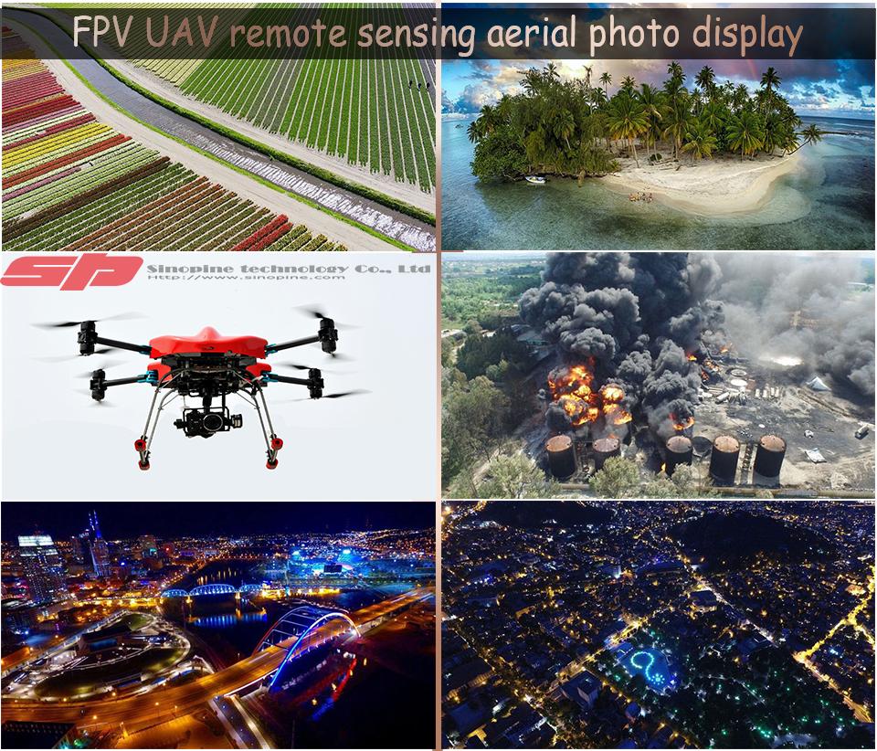 UAV remote sensing aerial photo display